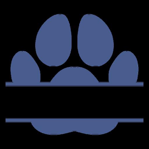 Crossed dog footprint flat