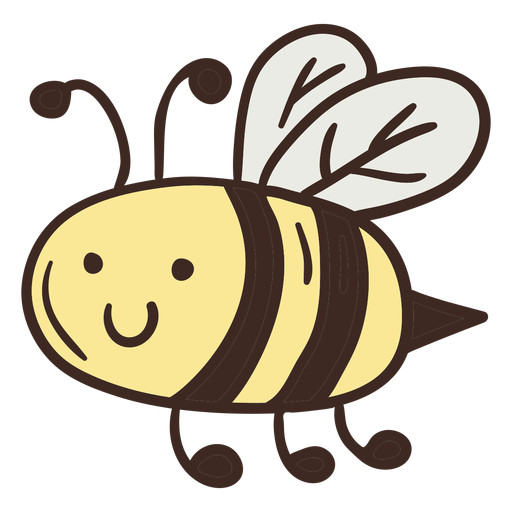 Cute bee insect Transparent PNG
