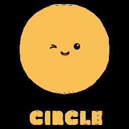 Forma de círculo lindo