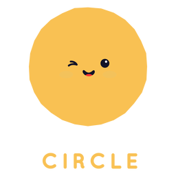 Linda forma de círculo