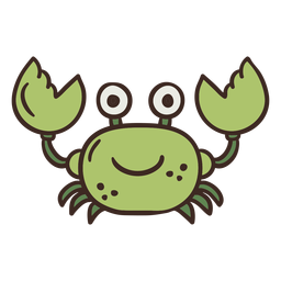 Cute crab animal