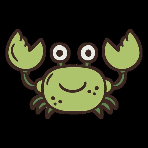 Lindo cangrejo animal