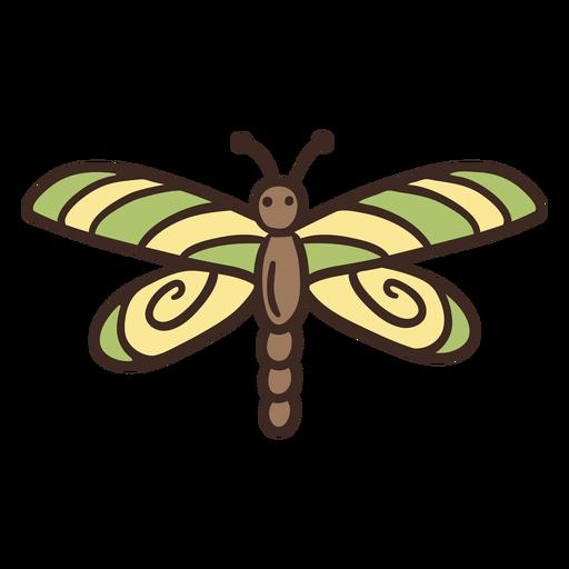 Insecto lindo de la mosca del dragón Transparent PNG