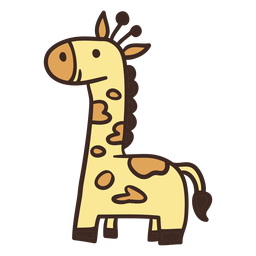 Cute giraffe animal