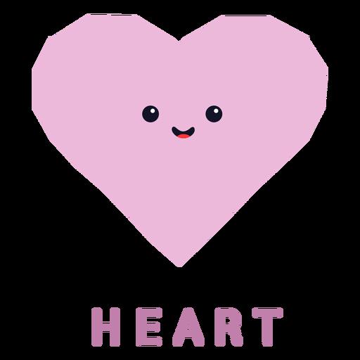 Formato de coração fofo