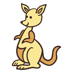 Cute kangaroo animal
