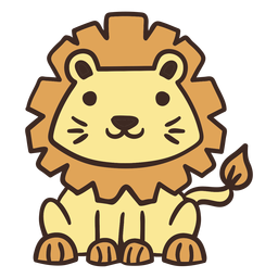 Cute lion animal