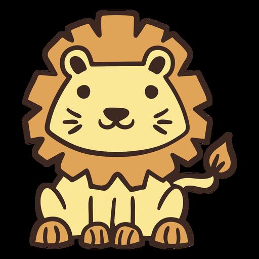 Animal leão fofo
