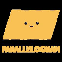 Cute parallelogram shape