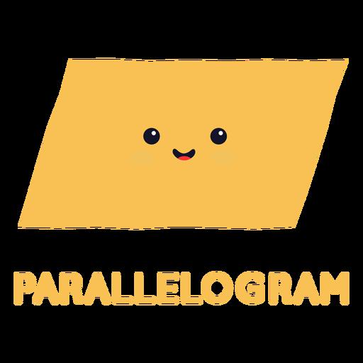 Linda forma de paralelogramo