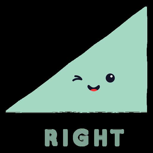 Forma de triângulo retângulo fofa