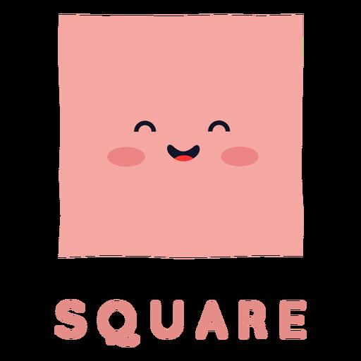Forma quadrada fofa
