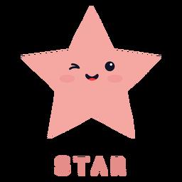 Forma de estrela fofa
