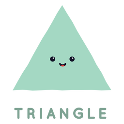 Cute triangle shape