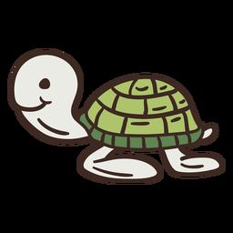 Animal adorável tartaruga