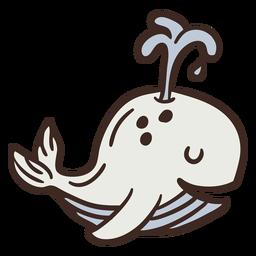Cute whale animal