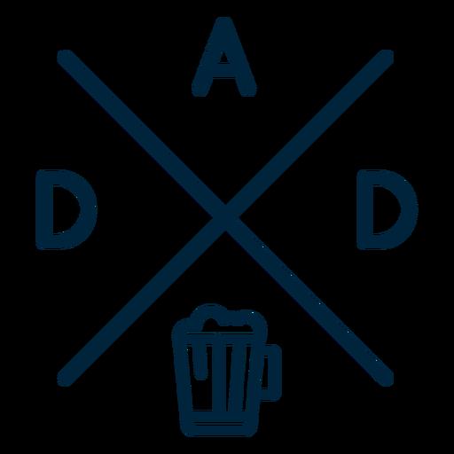 Emblema da cerveja do pai