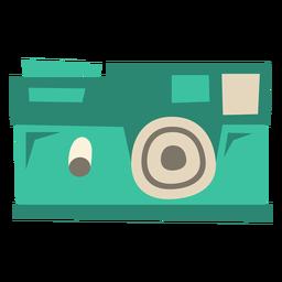 Câmera digital moderna plana