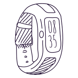 Doodle de relógio digital