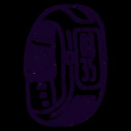 Reloj digital doodle