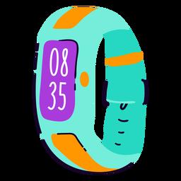 Reloj digital plano