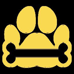 Osso de pegada de cachorro plana