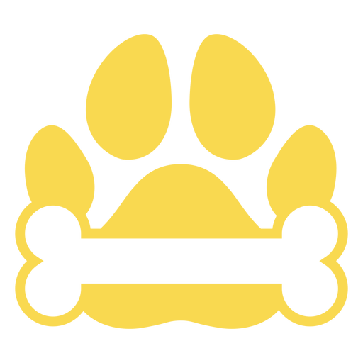 Hueso de huella de perro plano