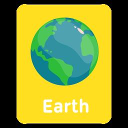 Flashcard de vocabulário do Google Earth