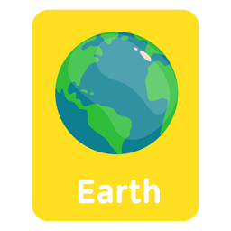 Tarjeta de vocabulario de la Tierra