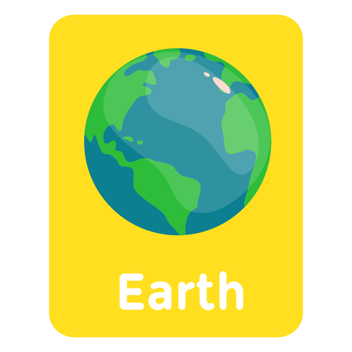 Earth vocabulary flashcard