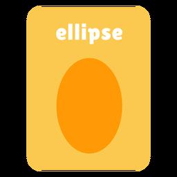 Ellipse shape flashcard