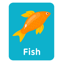 Tarjeta de vocabulario de peces