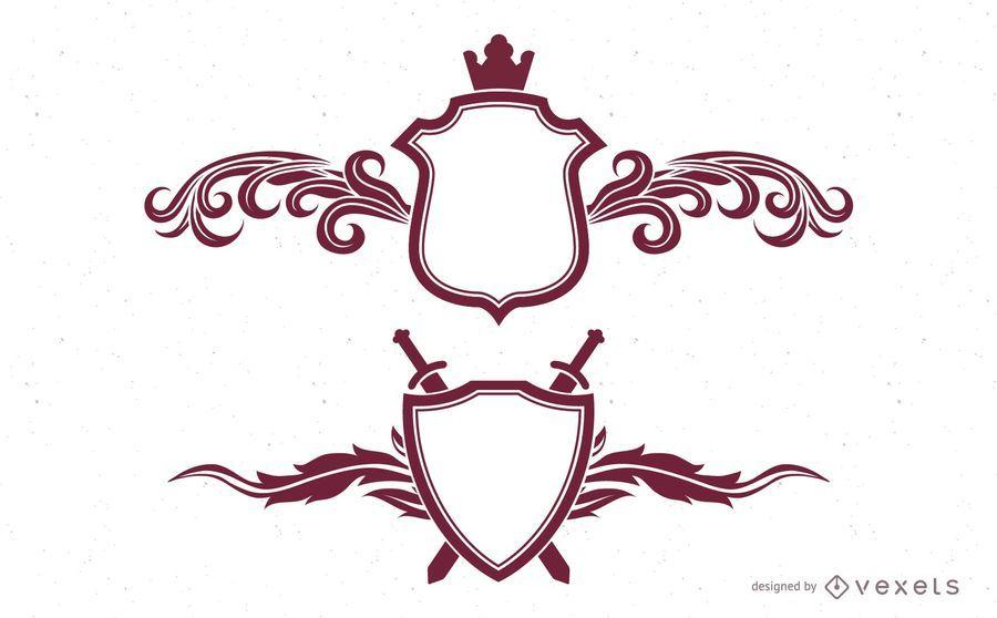 Kit de escudos de estandarte real