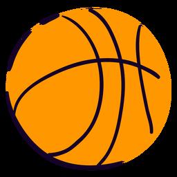 Bola de basquete plana