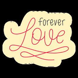 Forever love badge