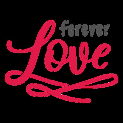 Forever love lettering