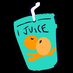 Jugo de fruta plano