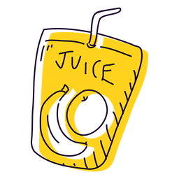 Fruit juice hand drawn