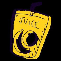 Mão de suco de fruta desenhada
