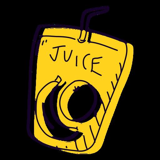 Fruit juice hand drawn