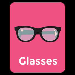 Flashcard de vocabulario de gafas
