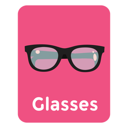 Glasses vocabulary flashcard