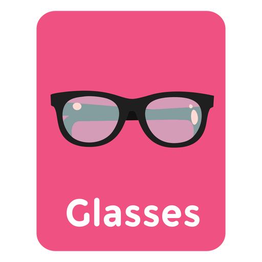 Glasses vocabulary flashcard