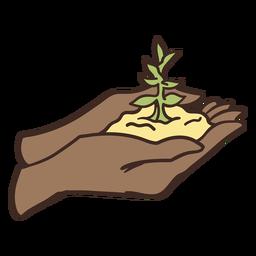 Agarrando ilustración de cultivo diminuto