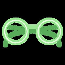 Green eyeglasses flat