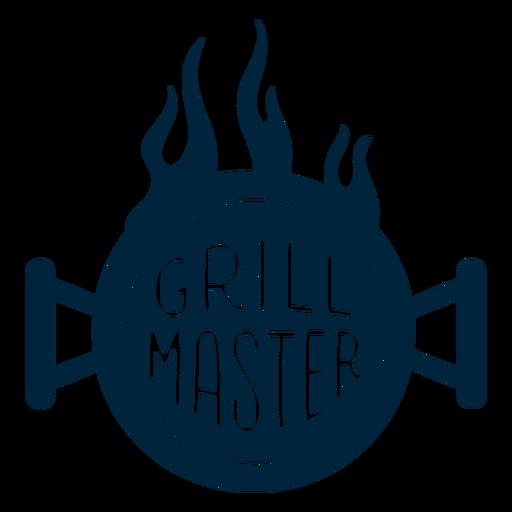 Grill master badge Transparent PNG
