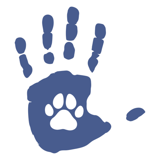Handprint dog footprint flat