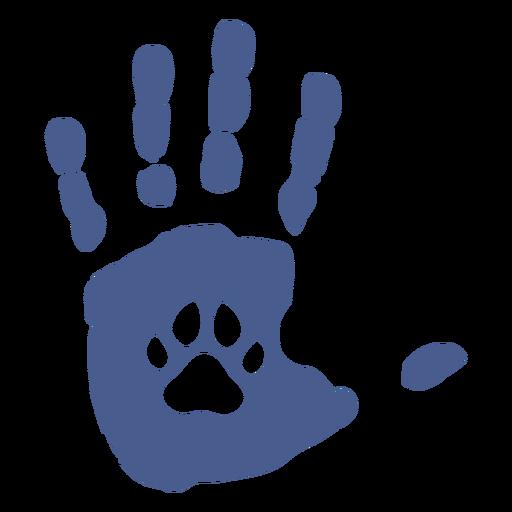 Huella de perro handprint plana