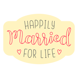 Happilly married for life badge