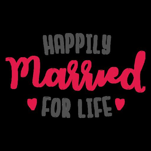 Felizmente casado de por vida letras